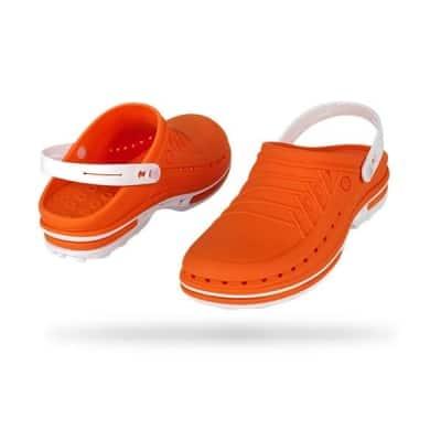 zoccoli-sanitari-professionali-autoclavabili-wock-clog-arancio-bianco