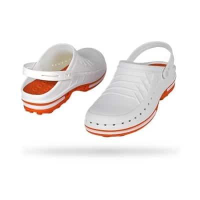 zoccoli-sanitari-professionali-autoclavabili-wock-clog-bianco-arancio