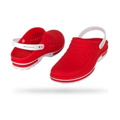 zoccoli-sanitari-professionali-autoclavabili-wock-clog-rosso-bianco