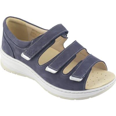 Sandali da donna nabuk con suola biomeccanica Ecosanit Beky