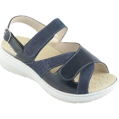 Sandali da donna nabuk con suola biomeccanica Ecosanit Billie